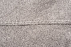 Grey Fabric Seam Swatch Stock Image
