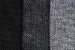 Grey fabric texture. Closeup detail of grey fabric texture background Stock Photo