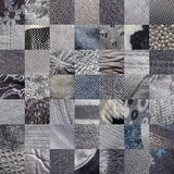GREY fabrics patchwork Stock Image