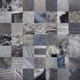GREY fabrics patchwork Stock Image