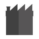 grey factory icon Royalty Free Stock Photography
