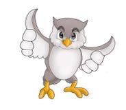 Grey fat owl Stock Photo