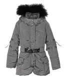 Grey female winter jacket Stock Images