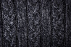 Grey figured sweater background Royalty Free Stock Photography