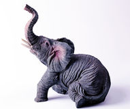 Grey figurine an elephant Royalty Free Stock Photos