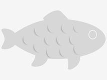 Grey fish icon. Royalty Free Stock Photography
