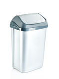 Grey flip lid bin isolated on white background Royalty Free Stock Image