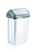 Grey flip lid bin isolated on white background Royalty Free Stock Image