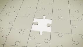 Grey Floor Without One Puzzle Illustration Stock