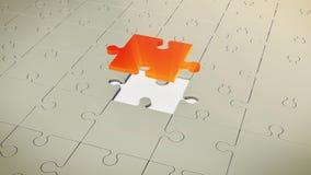 Grey Floor With One Red-Raadsel Royalty-vrije Stock Afbeelding