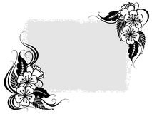 Grey floral background Stock Image