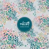 Grey Floral Editable Background Pattern royaltyfri illustrationer