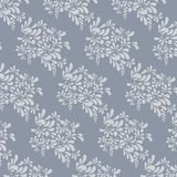 Grey floral pattern. Endless background Royalty Free Stock Image