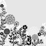 Grey floral patterns. Flower composition on a grey background Stock Image
