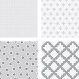 Grey flower backgrounds. Set of nice simple grey patterns on white background Royalty Free Stock Photos