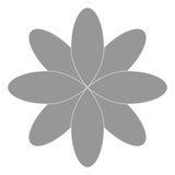 Grey flower icon Stock Image