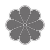 Grey flower icon. Grey eight petal flower flat design icon  illustration Royalty Free Stock Images