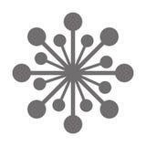 Grey flower icon Stock Photos