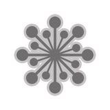 Grey flower icon. Grey flower flat design icon  illustration Royalty Free Stock Photography
