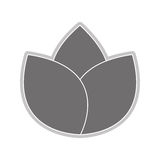 grey flower icon Royalty Free Stock Photography