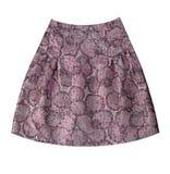Grey flower silk skirt Stock Photography