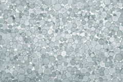 Grey foam plastic closeup. Royalty Free Stock Images