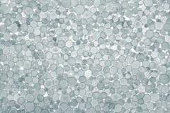 Grey foam plastic closeup. Royalty Free Stock Images