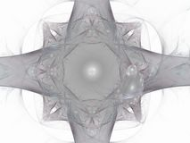 Grey fractal with floral pattern Royalty Free Stock Images