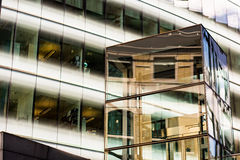Grey Framed Glass Building Stock Photos
