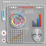Grey futuristic infographics  vector Royalty Free Stock Images