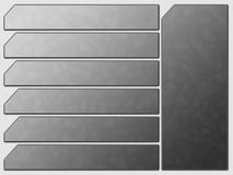 Grey Futuristic Website Navigation Stone Buttons Stock Photography