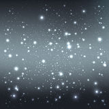 Grey galaxy background with stars. Vector Illustration. Xmas and. Grey galaxy background with light, stars. Vector Illustration. Xmas and New Year theme Royalty Free Stock Image
