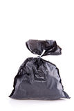 A grey garbage bag Stock Photo