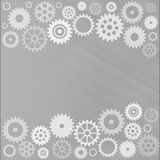 Grey gear background Royalty Free Stock Photography