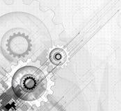 Grey Gear Concept för affär & develo för ny teknik företags Royaltyfria Foton