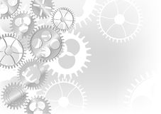 Grey gears background illustration Royalty Free Stock Photo
