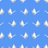 Grey Geese Seamless Pattern Photos libres de droits