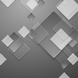Grey geometric tech background with glass squares. Vector graphic design Royalty Free Illustration