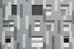 Grey geometrical facade. Abstract architecture background. Stock Image