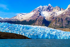 Grey Glacier at the Grey Lake in southern patagonia ice field Stock Photography