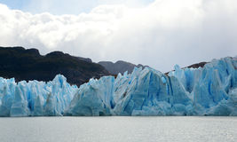 Grey glacier in Patagonia Royalty Free Stock Photos