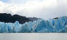 Grey glacier in Patagonia royalty free stock photos
