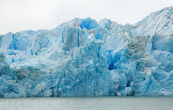 Grey glacier in Patagonia, Chile Stock Photo