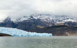 Grey glacier in Patagonia, Chile Stock Photos