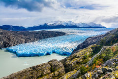 Grey Glacier,Patagonia, Chile,Patagonian Ice Field, Cordillera del Paine Royalty Free Stock Images