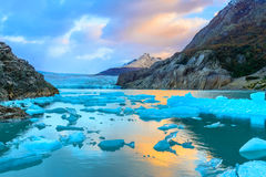 Grey Glacier, Patagonia, Chile, südliches Patagonian Eis-Feld, Herz Stockbilder
