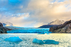 Grey Glacier,Patagonia, Chile,Southern Patagonian Ice Field, Cor stock image