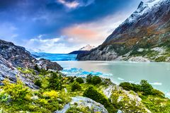 Grey Glacier, Patagonia, Chile. Patagonia, Chile - Grey Glacier is a glacier in the Southern Patagonian Ice Field on Cordillera del Paine Royalty Free Stock Photos