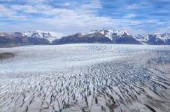 Grey glacier. Royalty Free Stock Images