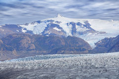 Grey glacier. Royalty Free Stock Photography